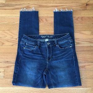White House/Black Market Frayed Bottom Jeans